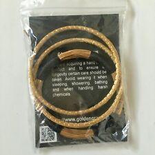 Brazilian Handcrafted Golden Grass Bracelet Bangle Set 3 Organic Eco Natural