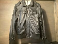 Diesel MENS $550 Black Lamb leather Jacket Size Large GOOD PREOWNED JACKET
