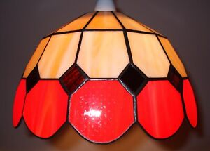 Red Bistro Design Tiffany Stained Glass Shade BR1