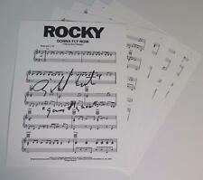 """Bill Conti ROCKY Signed Autograph """"Theme From ROCKY: Gonna Fly Now"""" Sheet Music"""