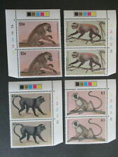 More details for zambia 1985 primate set of 4 sg425-428  mnh corner pairs.