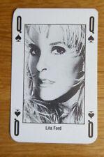 LITA FORD SINGLE CARD KERRANG THE KING OF METAL 1990's