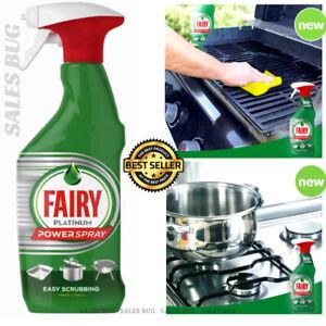 2 X 500ml Fairy Power Spray  Easy Scrubbing Fresh Citrus Sink Grease Remover