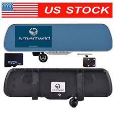 HD 1080P Vehicle Rear View Mirror Camera CAR Dash Cam DVR Smartwild W940 +32G SD