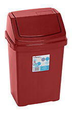 PLASTIC SWING WASTE BIN 8L 25L 15L 50L 50 LITRE KITCHEN HOME RUBBISH DUST BINS
