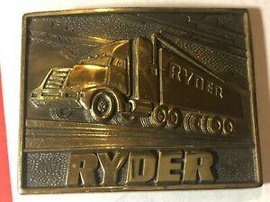 New Vintage RYDER Solid Brass Novelty Belt Buckle