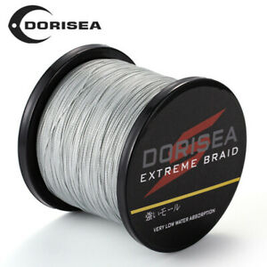 Gris Dorisea 300M/500M/1000M/2000M Super Puissance 100% Pe Tressé Pêche Ligne