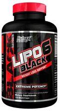 Nutrex  Lipo-6 Black - 120 black caps Free Uk P&P