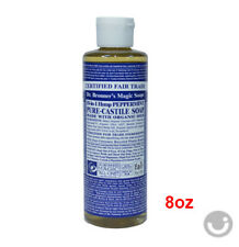 DR. BRONNER'S MAGIC PEPPERMINT PURE CASTILE ORGANIC OIL SOAP 8 oz