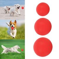 Safe Indestructible Solid Rubber Ball Pet Dog Chew Play Fetch Bite Perfect