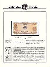 Banknoten dieser Welt 1 Dong Vietnam 1976 bankfrisch