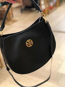 Tory Burch Carson Small Hobo Bag Black with Dust Bag Brand NEW