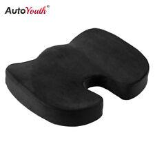 Seat Cushion Pad Black Coccyx Orthopedic Lumbar Support Comfort Memory Foam