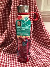 THE PIONEER WOMAN STAINLESS STEEL TRAVEL INSULATED WATER BOTTLE RED FLORAL
