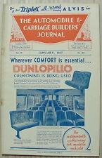 The AUTOMOBILE & CARRIAGE BUILDERS JOURNAL Magazine Jan 1937 Vol 78 No 464
