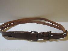 Authentic DOLCE & GABBANA Chestnut Brown Double Belt size EU 48 / large