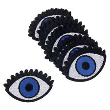 10 Pcs Blue Eyes Embroidery Iron On Patch Sewing Badge Bag Cloth Applique Decor