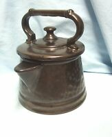 "COOKIE JAR Vintage  McCoy Pottery Bronze Tea Pot Tea Kettle USA 9"" Cookie Jar A1"