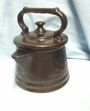 "Vintage Cookie Jar McCoy Pottery Bronze Tea Pot Tea Kettle 9"" Cookie Jar USA"