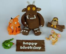 edible 3D GRUFFALO SET cake TOPPER DECORATION fox SNAKE owl MOUSE wooden sign