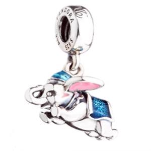 Genuine Pandora Silver ALE 925 Disney Flying Dumbo Enamel Charm 792124ENMX
