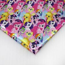 My little Pony heat transfer Satin fabric textile for Sewing - 50x140CM