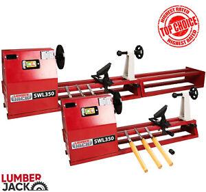 Lumberjack Starter Wood Lathe Variable Speed with Turning Kit & 3 Chisels 240v