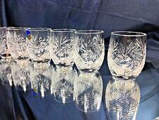 Crystal Shot Glass Vodka Whisky Cognac 1.7 oz Set of 6 NEMAN Vintage Russian Cut