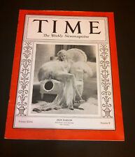 "TIME Magazine Jean Harlow Cover 1935 ""China Seas"" Clark Gable Coca Cola Ad"