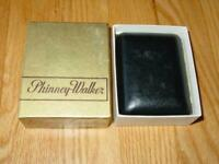 Vintage Phinney Walker Wind Up Travel Alarm Clock Tan Case with Light and Alarm