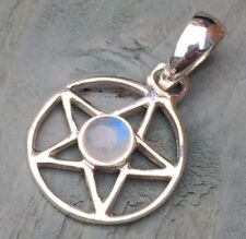Round Moonstone Sterling Silver Fine Necklaces & Pendants