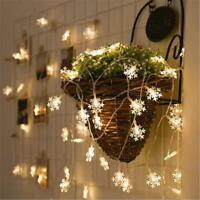 3M 20 LED Snowflake Fairy String Lights Christmas Wedding Xmas Party Decoration