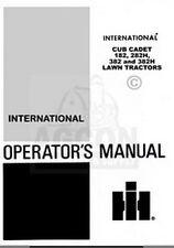 IH CUB CADET 182 282H 382 382H 282 H Operators Manual