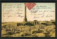 France Egypt 1907  Stationery Card - Alexandrie Cimetière Arabe - VF