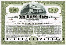 USA CHICAGO UNION STATION COMPANY BOND stock certificate