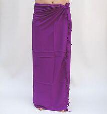 Sarong (sau608p) Tinta Premium Qualità PAREO Salviette Panno fasciatoio Sari Pareo