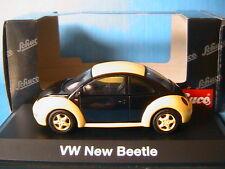 VW NEW BEETLE YELLOW & BLACK 1997 SCHUCO 04538 1/43 COCCINELLE JAUNE & NOIRE