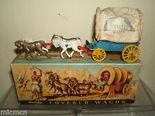 VINTAGE QUALITOY'S / BENBROS  MODEL No. XXX COVERED WAGON & HORSES  VN MIB