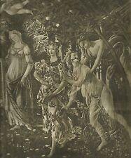 K0485 Sandro Botticelli raffigura la primavera con le donne - Stampa antica