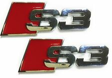 x2 New Audi S3 SLine Emblem Replaces Rear Audi S 3 S Line Badge A3 A4 A5 Q4