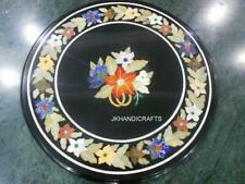 """Marble 24"""" Round Dining Coffee Table Top Floral Inlaid Furniture & Home Decor"""