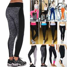Mujer Cintura Alta Yoga Leggings Elásticos Gimnasio Fitness Deporte Pantalones