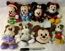 Choose One~Mickey, Minnie keychain/Plush/Pin from Japan-ship free