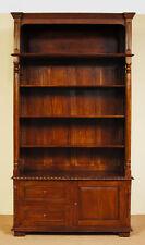 Bibliothek aus Massivholz 220x120 cm Bücherregal Bücherschrank 80181