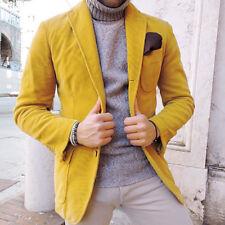 Ralph lauren chaqueta chaqueta de pana para hombre-Amarillo-Talla M