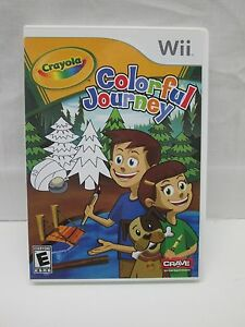 Crayola Colorful Journey (Nintnedo Wii, 2009) Complete & Tested
