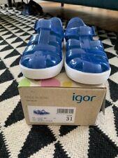 Igor Jelly Shoes Blue Azul size 31 UK 12 BNIB