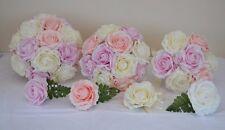 Beautiful Lilac Pink Peach wedding posy bride bridesmaid buttonhole flowers