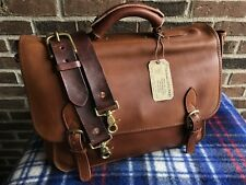 VINTAGE ONE OF A KIND 1980's LEATHER MACBOOK PRO MESSENGER BRIEFCASE BAG $1398