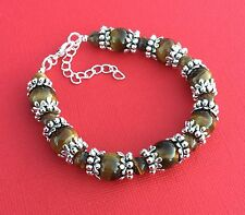 NEW! Tigers Eye Gemstone Handmade Bead Unique Women's Bracelet - Aussie Seller!!